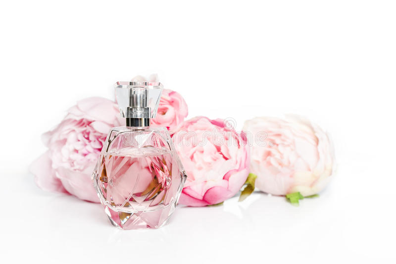 Pink perfume bottle with flowers on light background perfumery download pink perfume bottle with flowers on light background perfumery cosmetics fragrance collection mightylinksfo