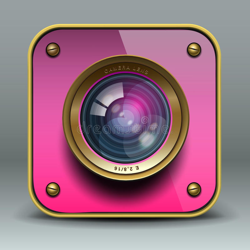 Free Pink Photo Camera Icon Stock Images - 30460324