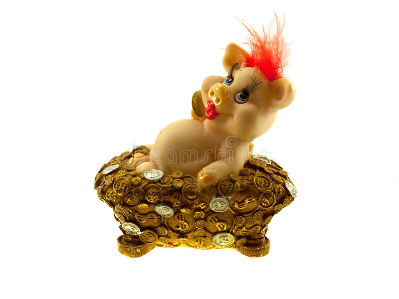Download Pink Pig A Coin Box Stock Image - Image: 11282981