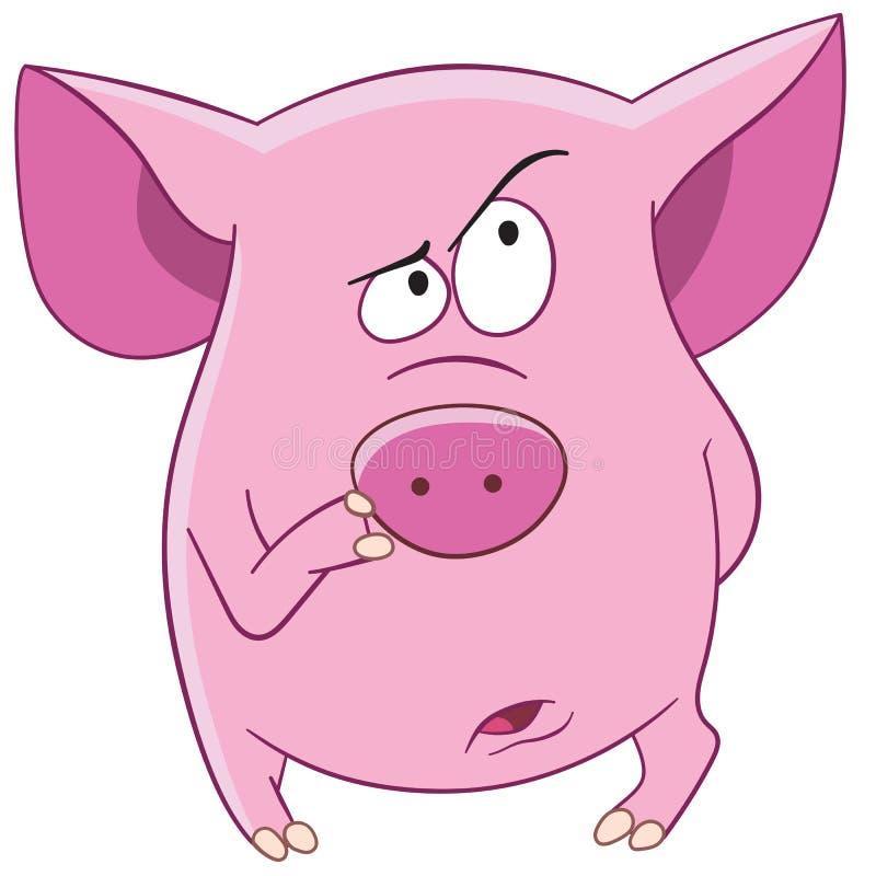 Pink pig stock photos