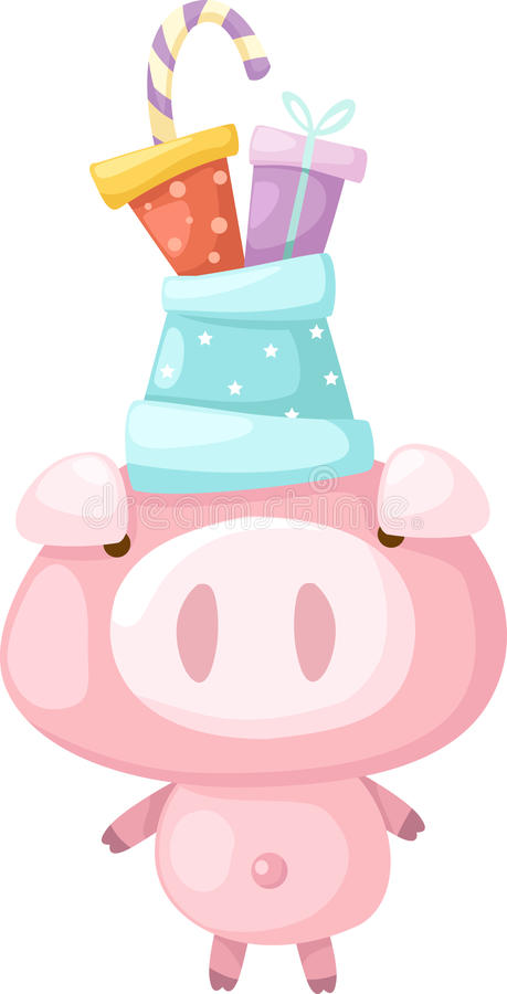 Download Pink Pig Vector Royalty Free Stock Image - Image: 25207566