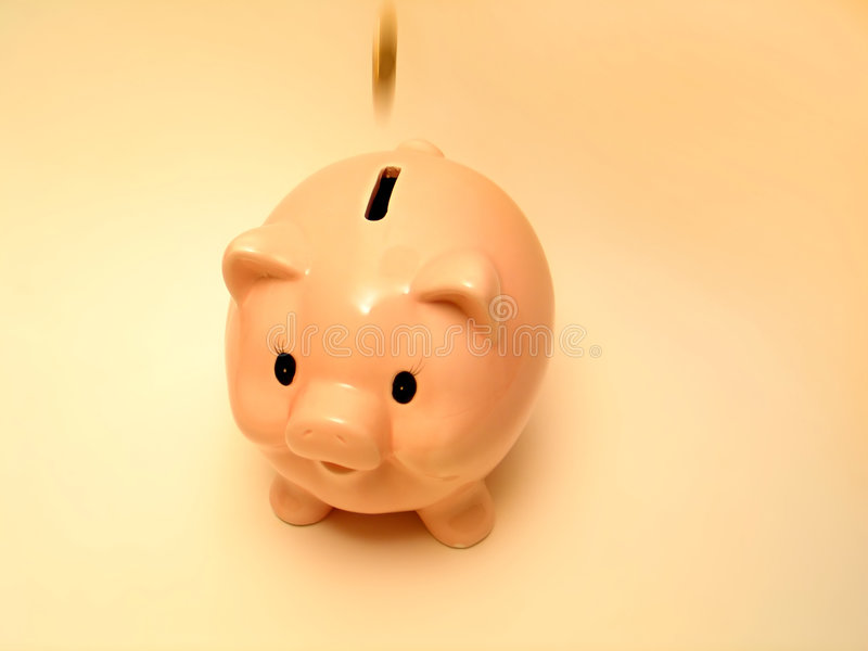 Pink piggy 2 stock images