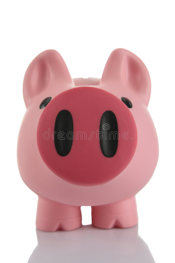 Pink Piggy Bank (moneybox) stock image