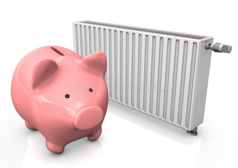 Download Piggybank Radiator stock illustration. Image of fitter - 30014155