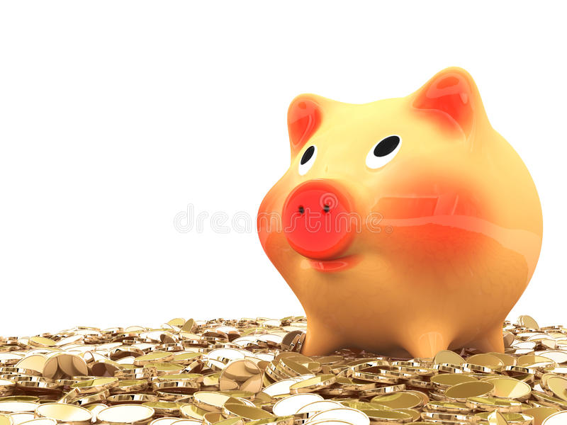 Download Pink piggy bank stock illustration. Image of credit, coinage - 29989464