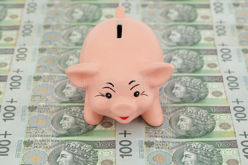 Download Piggy with money stock image. Image of dissolved, piggy - 29852233