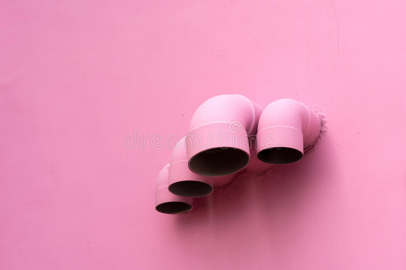Download Pink Pipes On Wall Royalty Free Stock Photo - Image: 33877695
