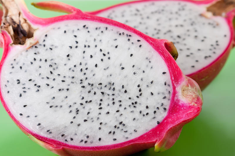 Pink pitahaya. Isolated on a white background stock photography