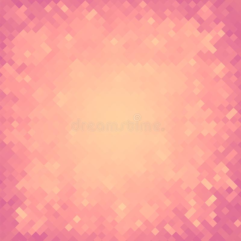 Abstract Square Pixel Mosaic Background Stock Vector