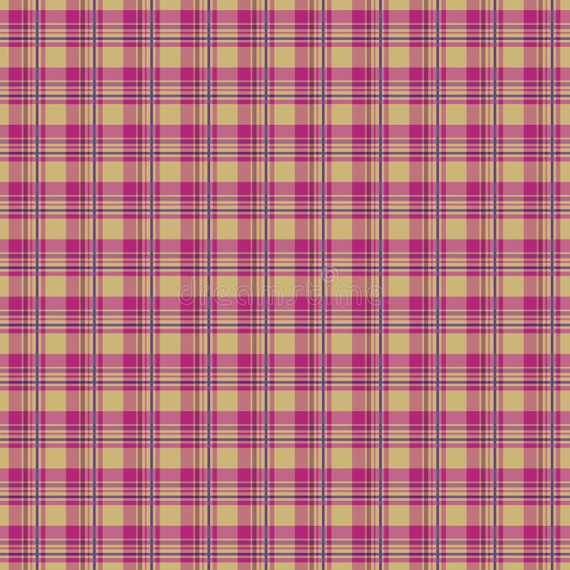 Download Pink plaid stock vector. Image of material, tartan, textured - 13696153