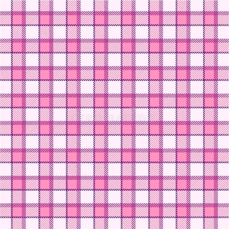 Pink plaid pattern stock illustration