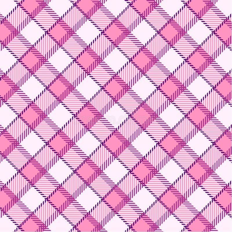 Pink plaid pattern vector illustration