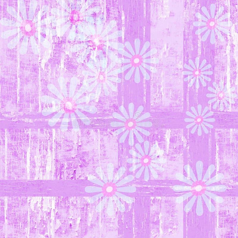 Purple plaid peeling paint flower background stock photos