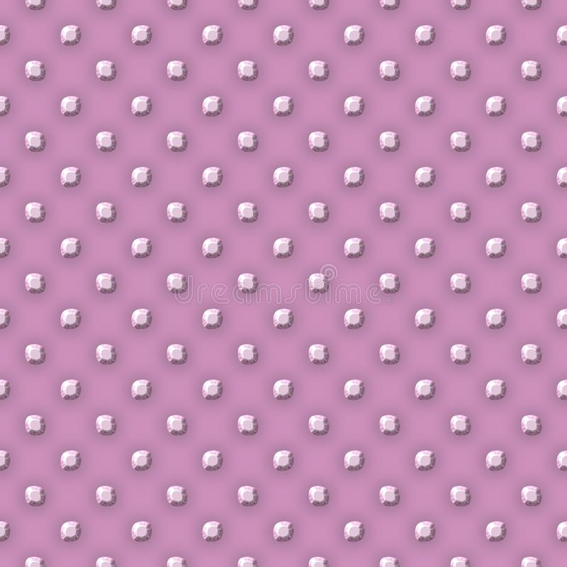 Pink plate with metall balls points texture vector illustration
