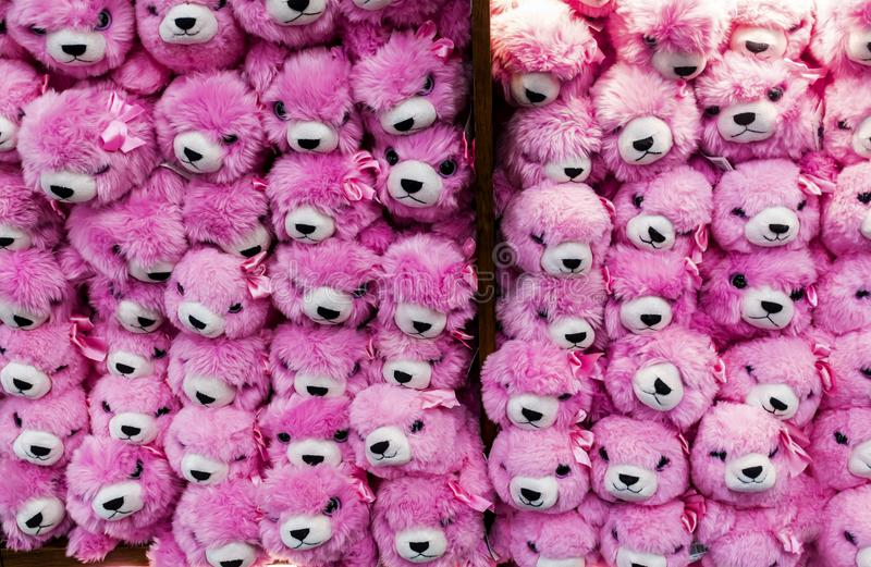 Pink plush toys royalty free stock photos