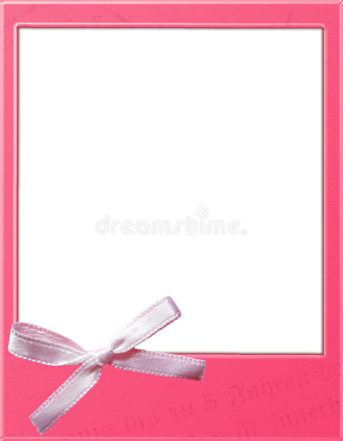 Pink Polaroid Template Stock Illustration Illustration Of White