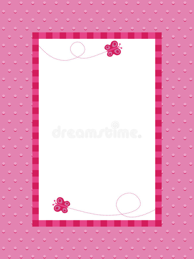 Pink polka dot background with frame