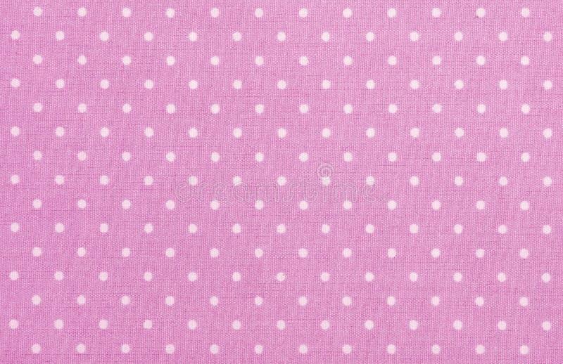 Pink Polka Dot Fabric Royalty Free Stock Photos
