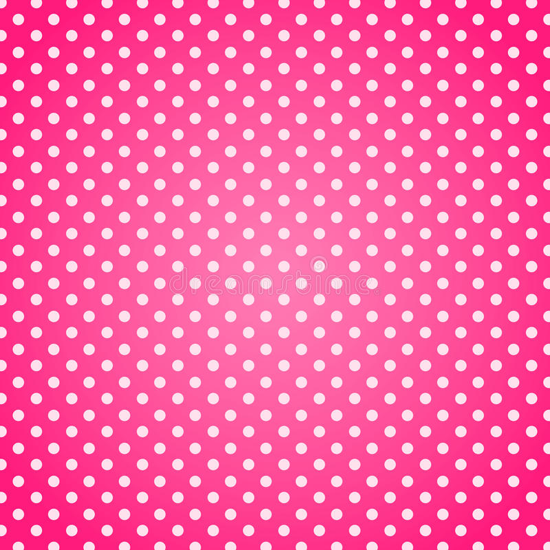 Download Pink polka dots background stock illustration. Illustration of bright - 92237144