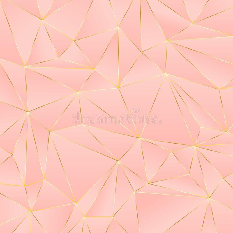 Free Pink Polygon Gradient And Gold Line Background. Stock Photography - 178687242