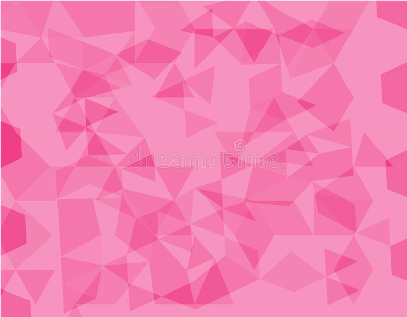 Pink polygonal illustration, which consist of triangles. Geometric background in Origami style with gradient. Triangular design fo vector illustration