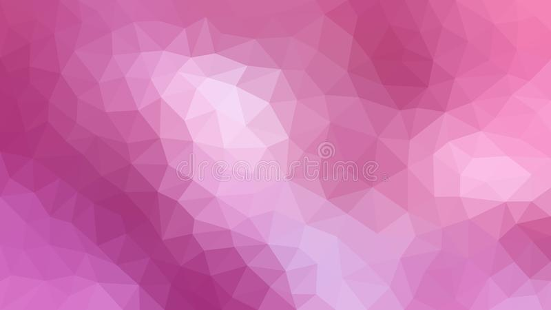 Pink Polygonal Texture for Abstract Background. Abstract image of pink low polygonal pattern for web background, banner, template or poster royalty free stock image