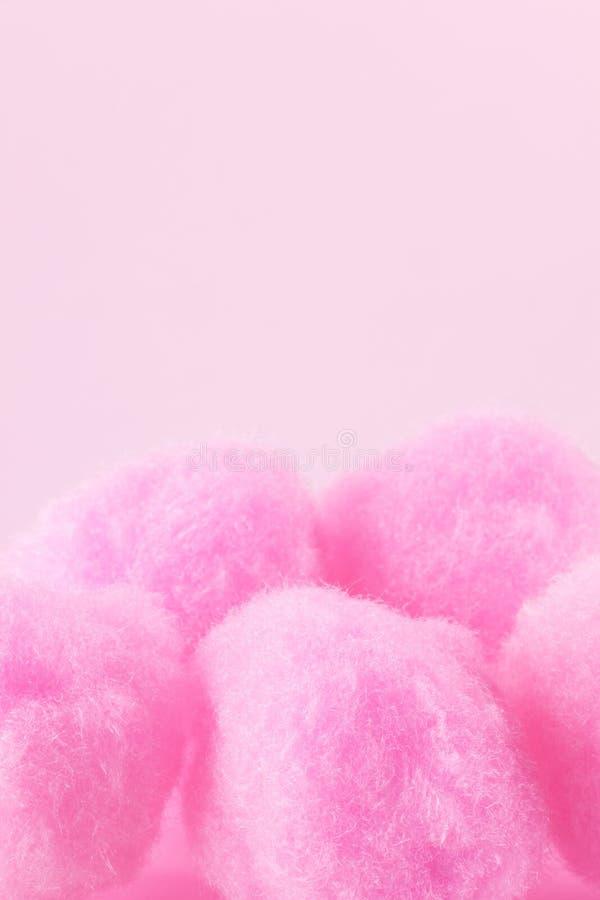 Pink pompoms stock photo