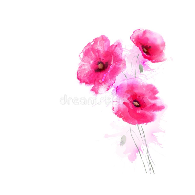Free Pink Poppies Royalty Free Stock Images - 55096529