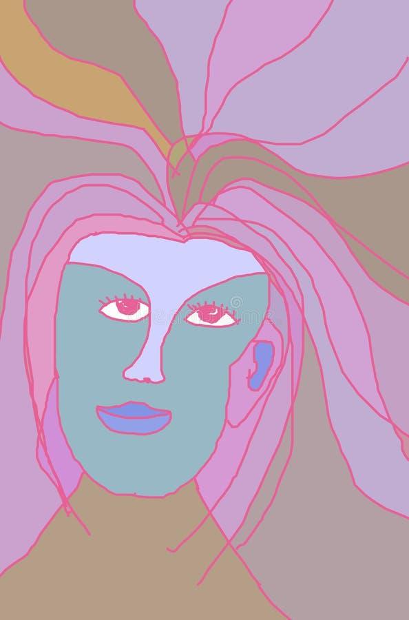Pink Portrait vector illustration
