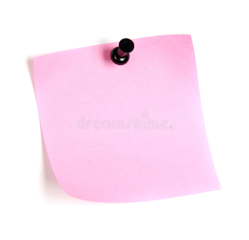 Pink post-it stock images
