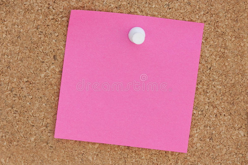 Download Pink post it note stock photo. Image of empty, post, board - 19186314