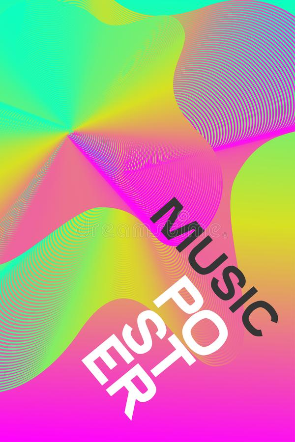 Pink poster electronic music stock illustration