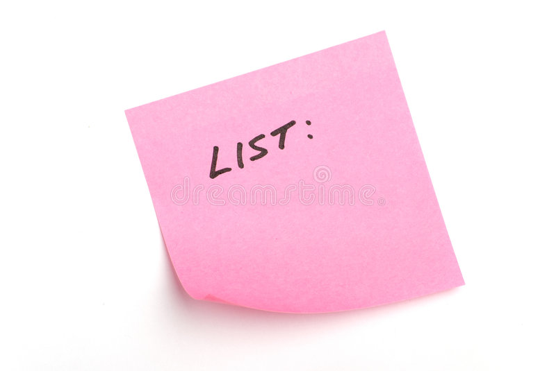 Download Pink postit note with stock photo. Image of announcement - 7874334