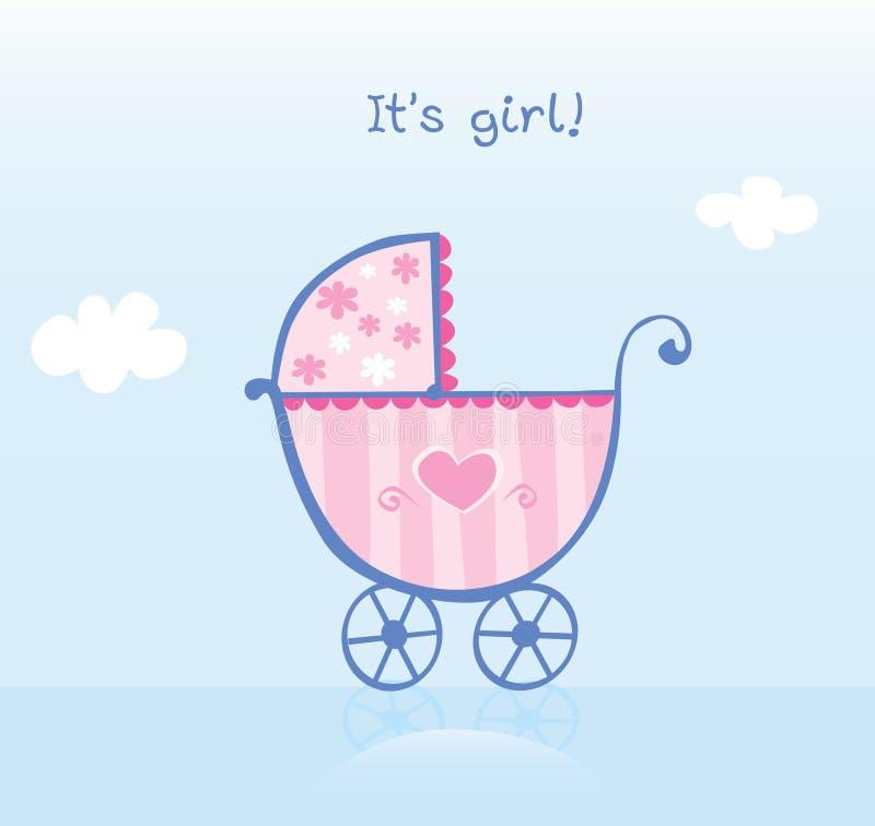 Free Pink Pram For Girl Royalty Free Stock Image - 10313146