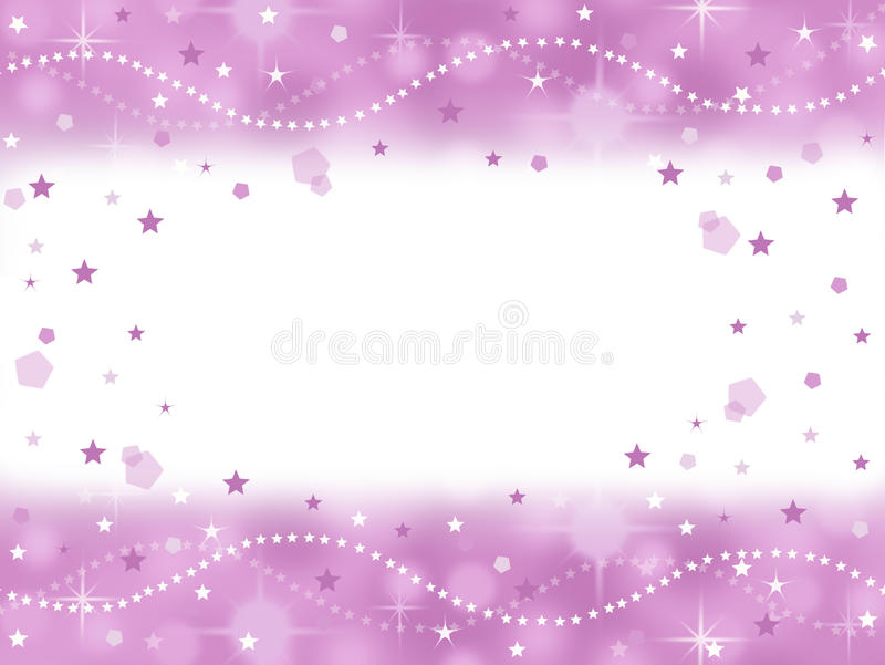 Pink princess bling party background with blank space stock illustration