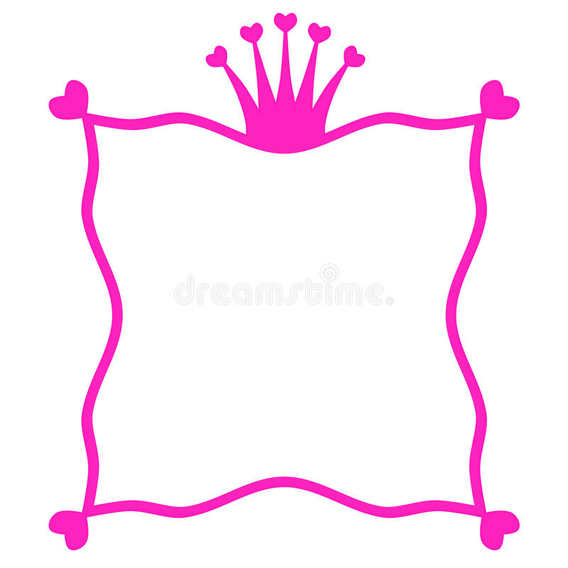 Pink Princess Party Invitation Card Stock Illustration ...