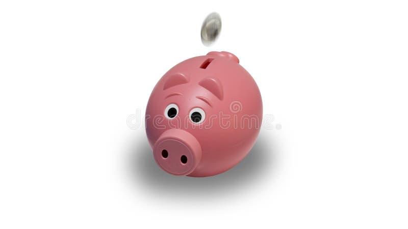 Pink, Product Design, Piggy Bank, Snout stock image
