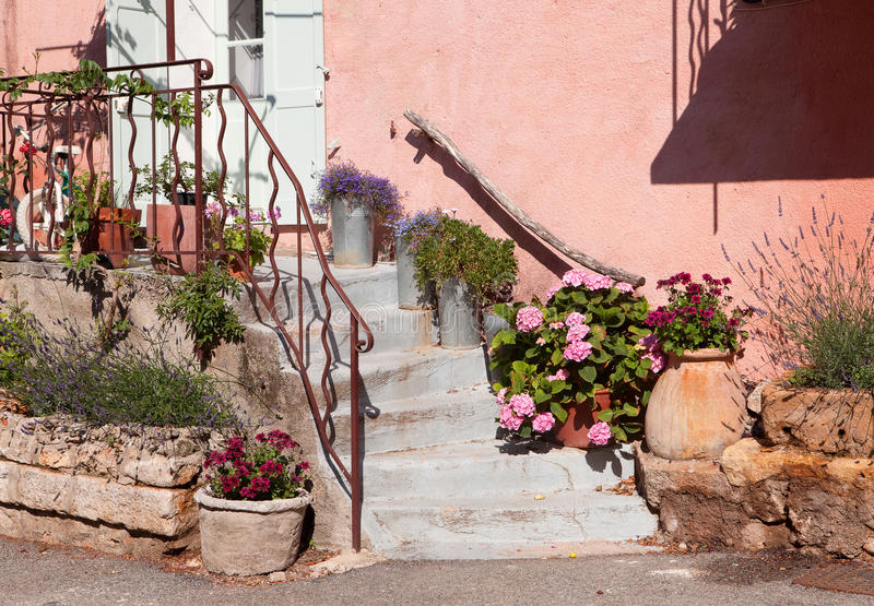 Download Pink provence facade stock photo. Image of summer, shutter - 18525584