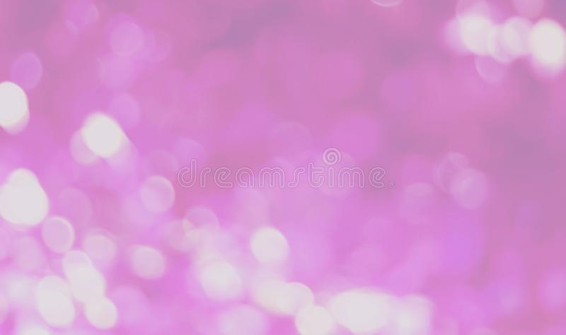 Pink and purple bokeh lights background, colorful glitter defocused royalty free stock photography