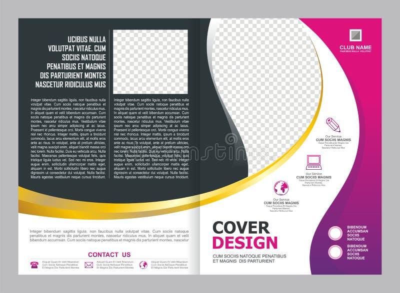 Pink and Purple Brochure, Flyer, Template Design. Pink, Purple, gold and white Brochure, Flyer, Template Design, simple, elegant and trendy design vector illustration