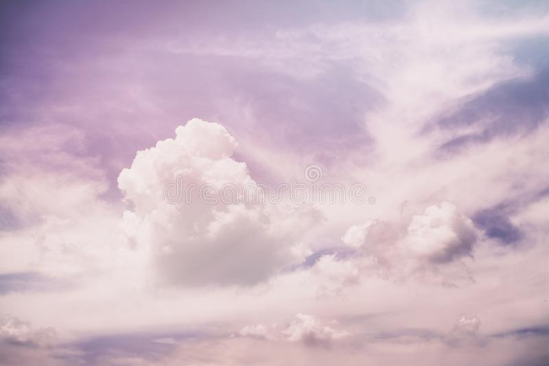Pink purple sky clouds sunlight gradient from dark to bright minimalism royalty free stock images