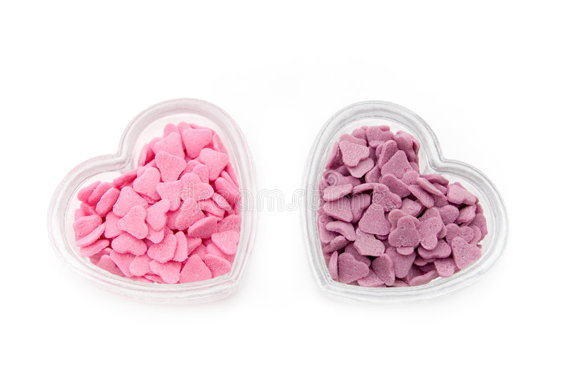 Download Pink and purple hearts stock photo. Image of ingredient - 1716678