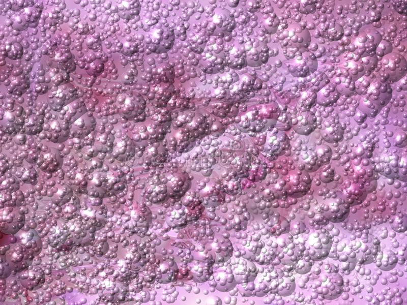 Pink purple metallic background with bubbles. Computer generated texture with embossed structure. stock illustration
