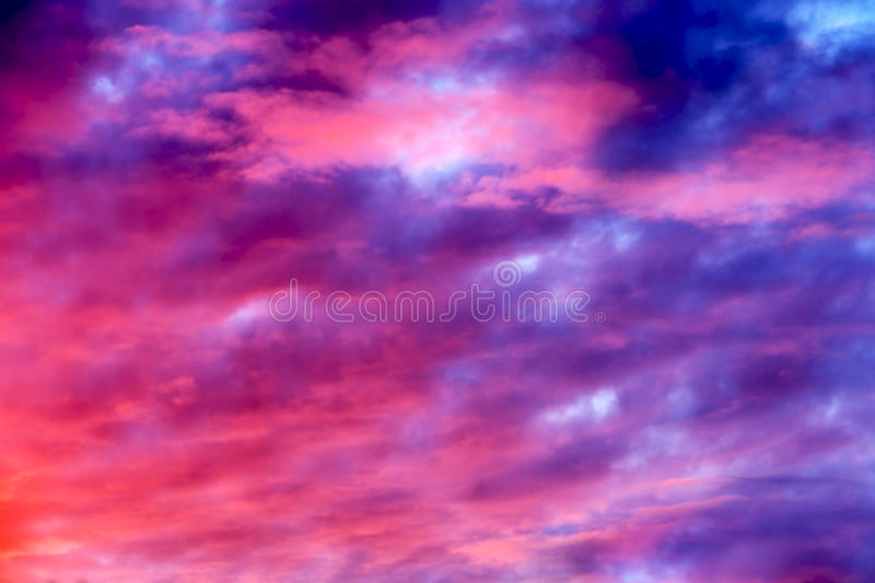 Pink and purple sky stock images