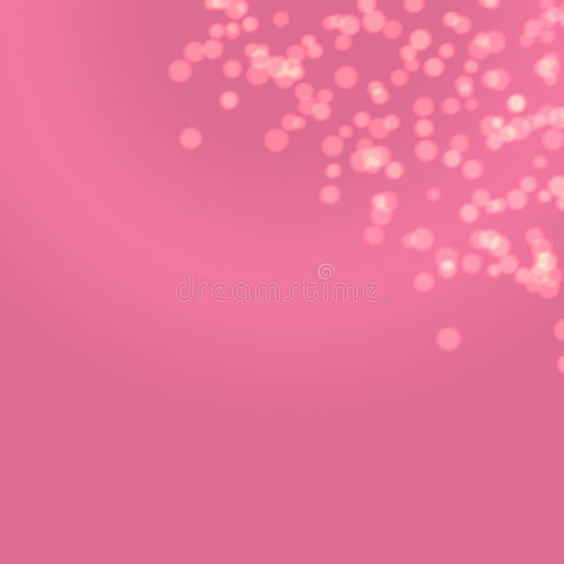 Pink Purple Solid Fashion Golden Women Birthday Bokeh Art Wallpaper Background concept royalty free illustration