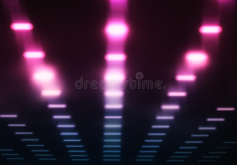 Pink and purple sound studio equalizer background stock photography