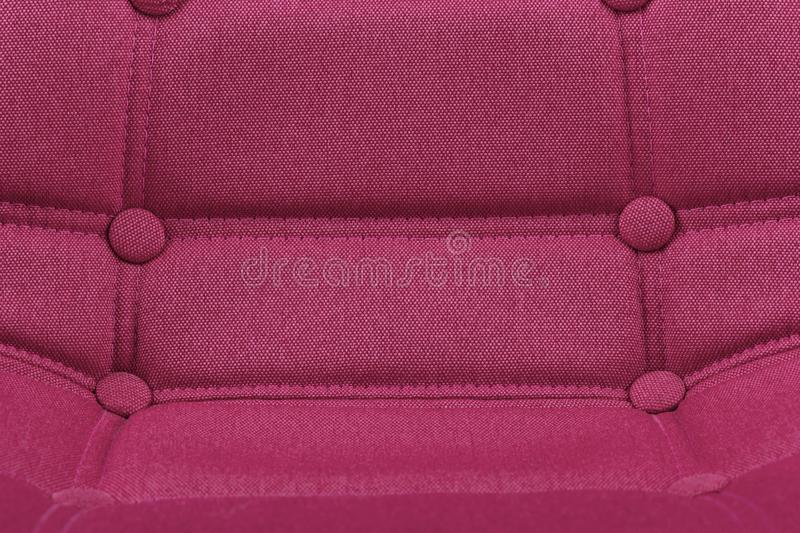 Pink purple textile chair seat close-up detail background - Modern furniture home interior concept - Pink Office Chair Seat Close stock image