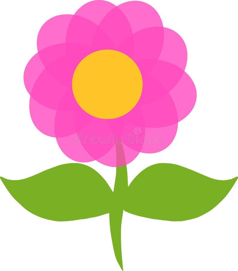 Pink purple violet flower logo. Illustration vector illustration