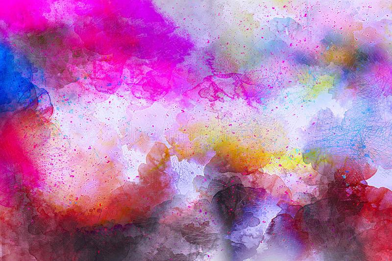Pink, Purple, Watercolor Paint, Sky royalty free stock image