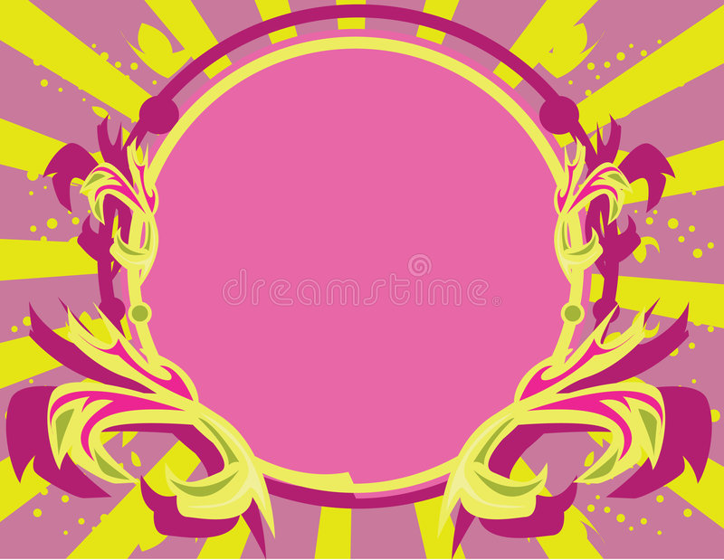 Pink Purple Yellow Frame Backg Royalty Free Stock Photo